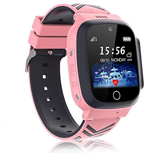 Vannico Smartwatch Kinder mitSpielUhrTelefonScreenRekorder Musik Wecker Taschenrechner KameraHD TouchKinderuhr Uhr Kinder Uhren Geschenke Geburtstag für Jungen Mädchen (Y13n-Pink)