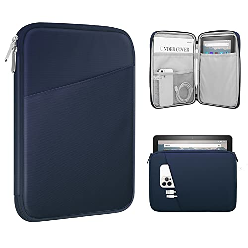 "TiMOVO Funda Compatible con iPad Mini 6, iPad Mini 5/4/3/2/1, Galaxy Tab A7 Lite 8.7/Tab A 8.0/Tab A 8.4, Fire HD 8 & 8 Plus 2020, 8-9"" Bolsa con Múltiples Bolsillos y Cierre de Cremallera, Índigo"