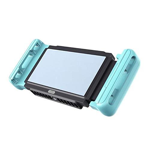 QHAI Gioco Cellulare d'Acqua, Ventilatore Supporto telefonico radiatore di Raffreddamento Gamepad Titolare del dissipatore di Calore, per 4,0 a 7,0 Pollici del Telefono Mobile,Blu