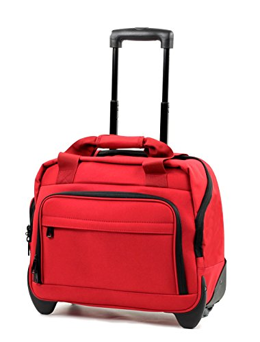 CM-0034-RE - Members Essential On-Board Red Lightweight Laptop Case on Wheels
