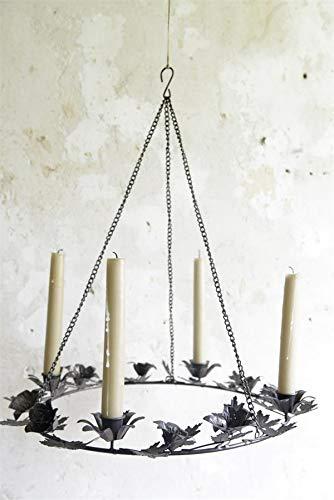Jeanne d Suite Arc Living Adventkrans krans kandelaar brocante kandelaar om op te hangen Ø 41 cm