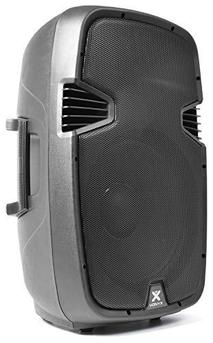 Vonyx SPJ-1500A Altavoz Activo de 800 W con woofer de 15 Pulgadas: Adecuado para DJ