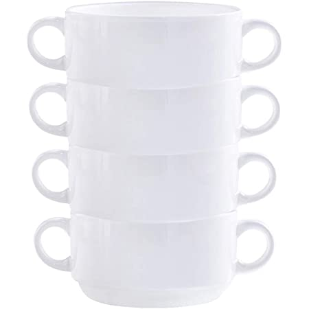 JLWM Cuenco para Sopa con 2 Asas 300ML Cuencos para Sopa con Asas De Porcelana Cer/ámico Microonda Cocina Jarra Taza Plantar Flores para Gachas De Avena Desayuno Postre-A