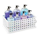 InterDesign Basic Cesta organizadora, canasto Organizador de baño de tamaño...