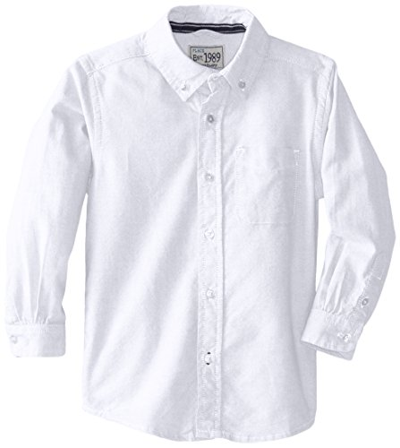 The Children's Place Boys' Toddler Oxford Button Down Shirt, White, 18-24 Months