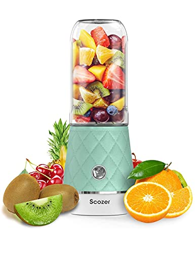 SCOZER Portable Mini Personal Blender with USB Rechargeable, IP68 Waterproof, Extract Natural Nutrients Tasty, BPA Free Kitchen Small <a href=