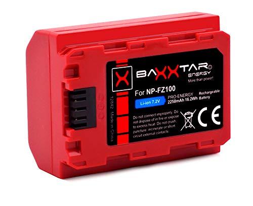 Baxxtar Pro Batteria NP-FZ100 (Generazione IV - 2250mAh) - compatibile con Sony Alpha A1 7c 7R IV ecc.