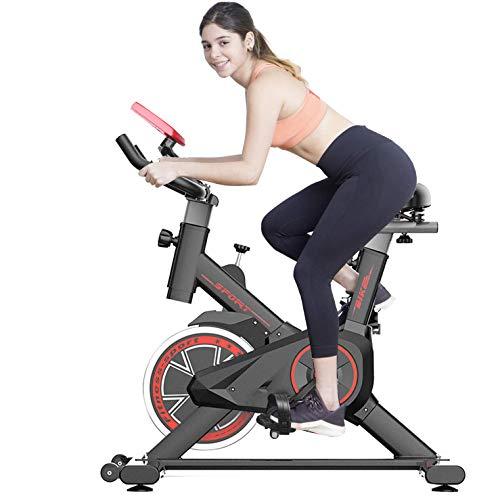 41Ner0fcBOL - Bicicleta Estática| Bicicleta de Interior ,6 Ajustes de Altura de Reposabrazos y Cojines,Magnetorresistencia ilimitada,Monitor LCD de Frecuencia Cardíaca, Entrenamientos cardiovasculares en casa.