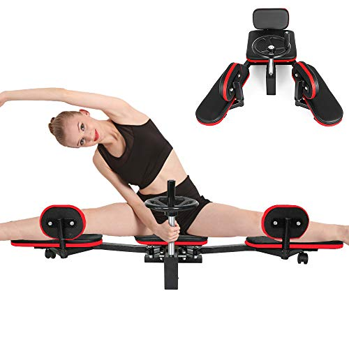 Weanas Pro Leg Stretcher Machine 330LBS Leg Stretch Training Heavy Duty Stretching Machine Gym Gear Fitness Equipment (Black and Red)
