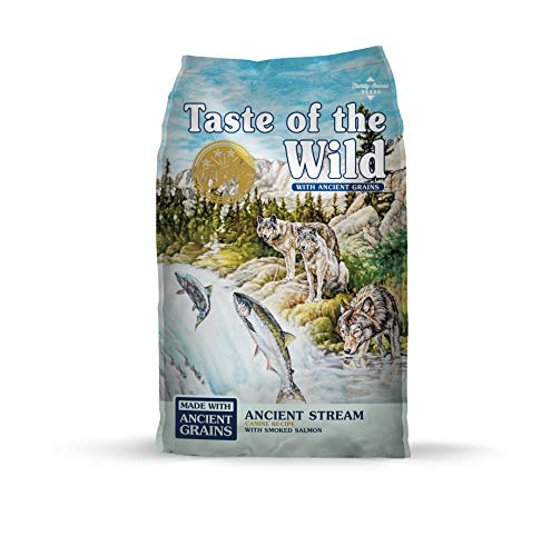 Taste of the Wild with Ancient Grains Ancient Stream Canine Recipe with Smoked Salmon Dry Dog Food for All Life Stages 28lb