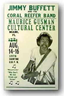 Jimmy Buffett by Reproduction Concert Poster 14