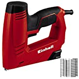 Einhell Electric stapler TC-EN 20 E (Staple dimensions: length 6-14 mm, width 11.4 mm, nail dimensions: length 14 mm, Supplied with 1000 staples and 500 nails)