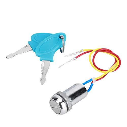 【𝐏𝐫𝐨𝐦𝐨𝐜𝐢ó𝐧 𝐝𝐞 𝐒𝐞𝐦𝐚𝐧𝐚 𝐒𝐚𝐧𝐭𝐚】 Elektrische Scooter Stroombronvergrendeling, eenvoudig te installeren e-Scooter Elektrisch deurslot, voor rijden op elektrische fiets Gashendelvergrend