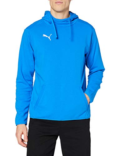 Puma Herren LIGA Casuals Hoody Sweatshirt, Electric Blue Lemonade White, S