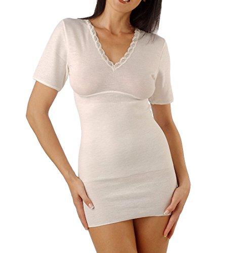 Relaxsan Ortopedica 2200 (Bianco, Tg.2) Maglia Termica T-Shirt Donna Lana Cotone con Fascia Contenitiva Lombare