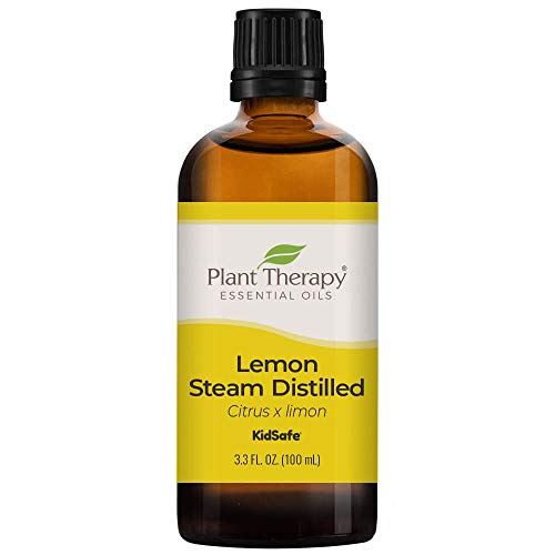 Plant Therapy Lemon Steam Distilled Essential Oil 100 mL (3.3 oz) 100% Pure, Undiluted, Therapeutic Grade
