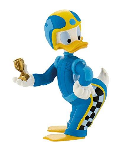 Bullyland 15464 - Disney Micky und die flinken Flitzer Spielfigur, Rennfahrer Donald