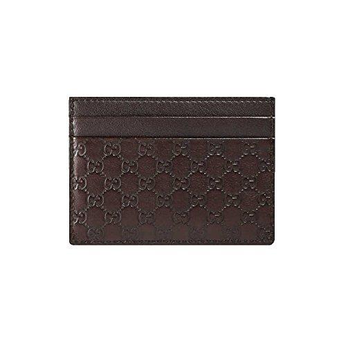 GUCCI Microguccissima 262837 - Funda de piel para tarjetas, color marrón