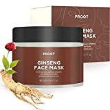 Ginseng Face Mask   52.9% Korean Red Ginseng Extract   Anti-Aging Formula for Wrinkles, Fine-Lines, Firmness and Elasticity   Korean Skin Care, Vegan, Cruelty-free   3.4 fl. oz.