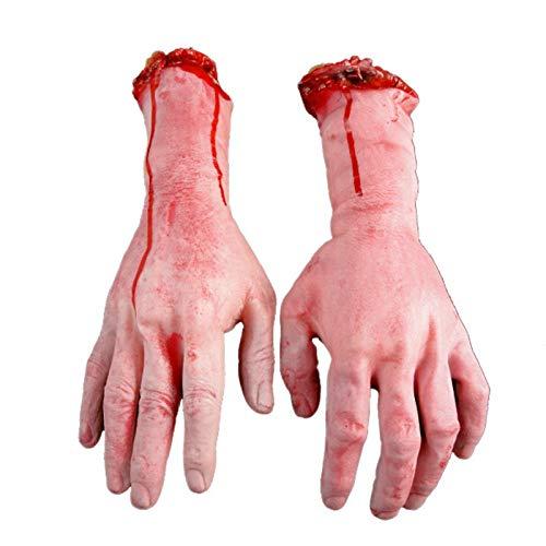 merymall Singola mano falsa di Halloween, braccio mozzato a mano Orrore sanguinante Scary Halloween Prop