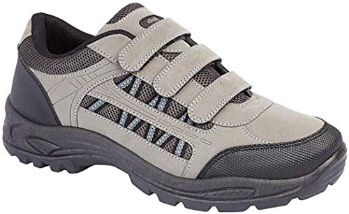 Mens Grey and Black Triple Touch Fastening Trail Shoe - Ascend - Grey/Black - size UK Mens Size 11