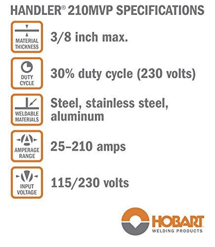 Hobart - 500553 Handler 210 MVP MIG Welder,Small