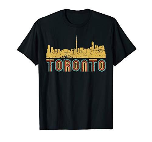 Vintage Retro Toronto Ontario Canada Skyline T-Shirt