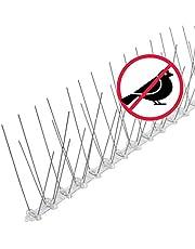 riijk Sistema Anti Pájaros de Acero Inoxidable - 3 Metros de Púas Anti Palomas y Anti Gatos - Premontado