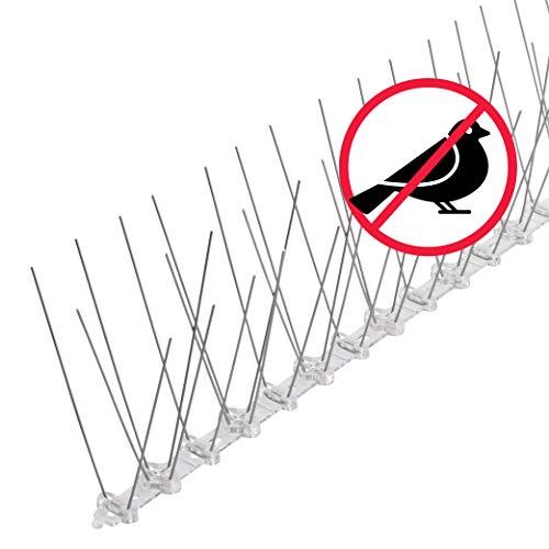 riijk Pinchos Antipalomas 3 Metros - Premontado - Sistema Anti Pájaros de Acero Inoxidable - Púas Anti Palomas - Pinchos Anti Gatos