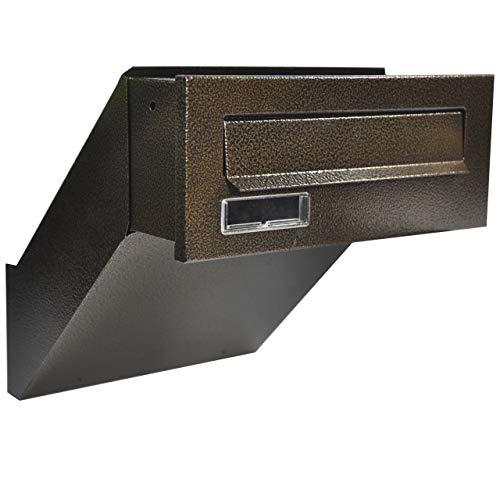 Cassetta postale a incasso: Da installare in una parete, una parete lamiera d'acciaio zincata, verniciata a polvere bronzo antico profondità variabile 260-420 [mm]