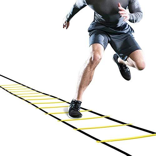 Winmany - Escalera de agilidad para entrenamiento de fútbol, rugby, baloncesto, escalera, escalera, entrenamiento para actividades al aire libre, 7 m 13 escalera