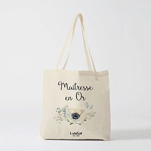 Master Tote Bag - Bolso de lona personalizado para profesor en bolsa de algodón para centro de mesa, bolsa de regalo para la escuela, bolsa de lona