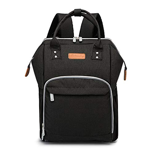 Diaper Bag Backpack Black for Baby Girls and Boys Now $23.99