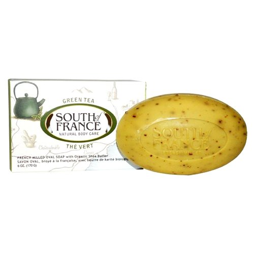 South of France Natural Bar Soap, Green Tea, 6 Ounce by South Of France