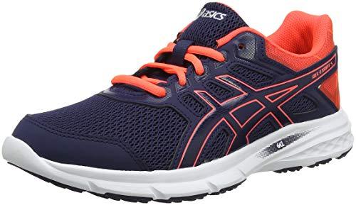 Asics Gel-Excite 5, Zapatillas de Entrenamiento Mujer, Morado (Peacoat/Flash Coral 400), 42.5 EU