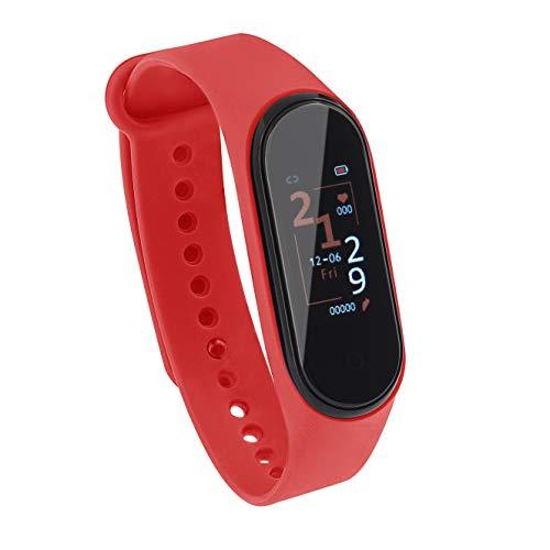 Sami - Running 3 - Smartwatch, Smartband, Pulsera de Actividad. Color Rojo. para Android y Apple. Función: Versión Especial Running, GPS, Waterproof, presión sanguínea, Fuerza G, Multideportivo.