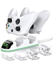 OIVO Cargador Mando para Xbox One Series X S, Xbox Mando Batería 2 x 1300mAH Recargable para Xbox One / One S Serie / One X Serie / One Mando inalámbricos Elite