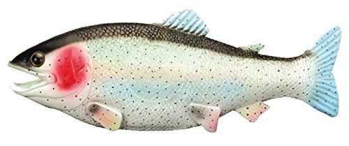 4pc ( BULK LOT ) Realistic Jumbo Size Fake 13 inch Rubber Trout Fish