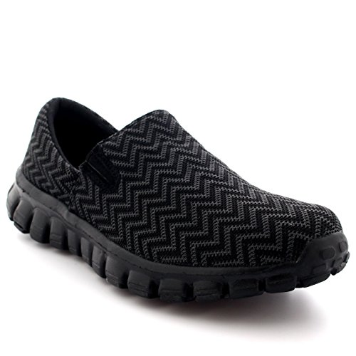 Womens Walking Super Lightweight Gym Sports Running Shoes Shock Absorbing Trainers - Black - UK6/EU39 - BS0062