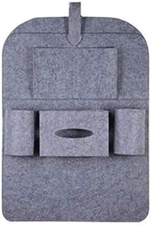 Gray Color Auto Car Seat Back Multi-Pocket Hanging Storage Bag Organizer Holder Accessory