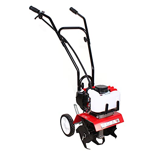 Minicultivador de gasolina, 52 cc, 2 tiempos, 1 cilindro, motoazada a gasolina, motocultador, azada de jardín