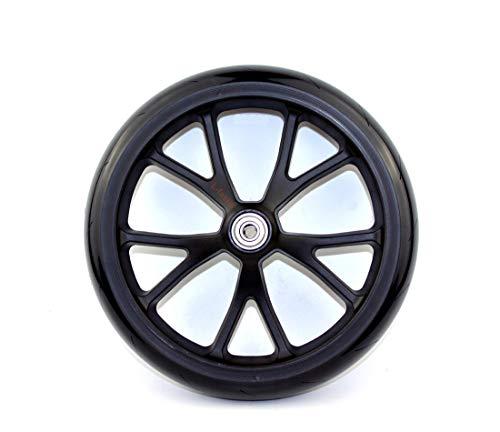 L-faster 8 Zoll-Roller PU-Rad mit Lager-Kinderkickscooter-Rad-Erwachsen-Roller-Ersatz-Ersatzrad-Einkaufswagen-festes Rad (10 Spokes Wheel)