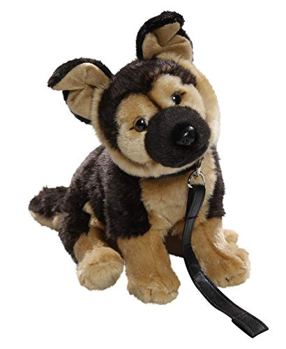 Carl Dick German Shepherd Dog with Lead 10 inches, 25cm, Plush Toy, Soft Toy, Stuffed Animal 3498