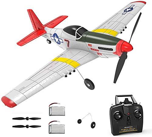 GHDE& 4-CH RC Flugzeug, mit Xpilot Stabilisierungssystem Simulation Stunt Fighter EIN Schlüssel Kunstflug und One-Key-U-Turn-Funktion, für Anfänger (741-6) RTF