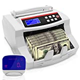 Upgraded Pyle Bill Counter, Cash, Automatic Counting Machine, Toploader, UV & MG Counterfeit Detection, UV Scanning, LCD Display, 1100 Pieces Per Min, U.S. & Canadian Dollar, Euros & Pound (PRMC700)