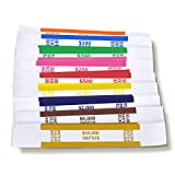 Currency Straps –450 Assorted Bill Wrappers, Money Bands to Organize Bills, ABA Standard...