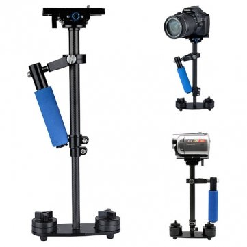S60 Carbon Fiber Handheld Stabilizer Steadicam Met Tas Voor Camcorder Camera Video DV DSLR