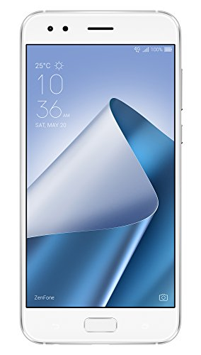 ASUS ZenFone 4 ZE554KL - Smartphone de 5.5' (4G, WiFi, Bluetooth, Qualcomm Snapdragon 630, 64 GB de eMCP, 4 GB de RAM, cámara de 12 MP, Android 7.0 Nougat) Blanco