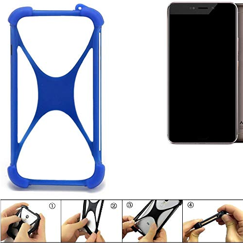 K-S-Trade® Handyhülle Für Allview X4 Xtreme Silikon Schutz Hülle Cover Case Bumper Silikoncase TPU Softcase Schutzhülle Smartphone Stoßschutz, Blau (1x),