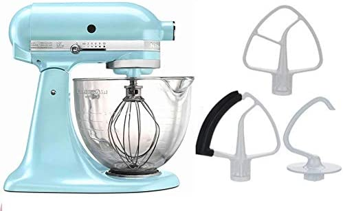 high quality KitchenAid new arrival 5-Quart Stand Mixer Glass Bowl Ice sale Blue online